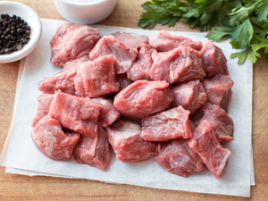 Organic Cubed Shoulder Somerset Pork, 500g