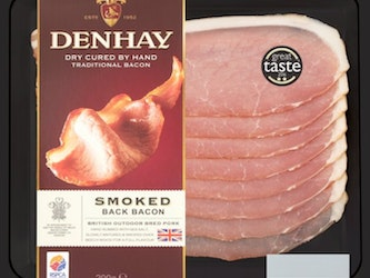 Denhay Smoked Dry Cured Back Bacon, 200g.