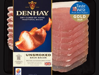 Denhay Dry Cured Unsmoked Back Bacon, 200g.