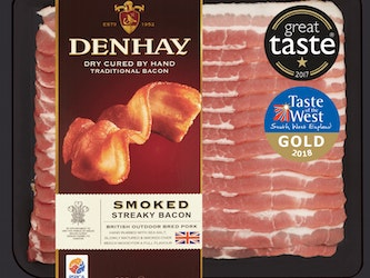 Denhay Smoked Dry Cured Streaky Bacon, 200g.