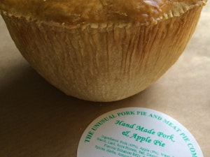 Pork Pie with Apple and Stilton