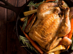 Slow Grown Somerset Orchard Free Range Sasso Chicken, around 2kg, frozen