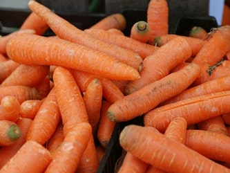 Carrots, grown in light Somerset soil, washed – 1kg
