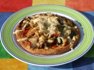 Mediterranean Vegetable and Mozzerella Pizza, One Person