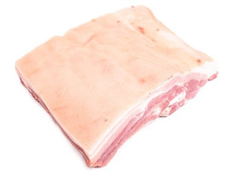 Organic Somerset Belly Pork in one piece, 1 kilo