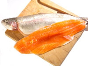Fresh Rainbow Trout Medium min. 341g. (£9.64/kg)