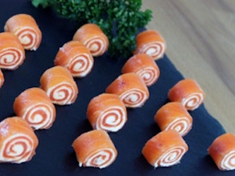 Smoked  Trout Roulades 20-25 pieces, 170g.