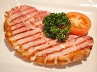 Prestige Pork Somerset Gammon Steaks approx 500g.