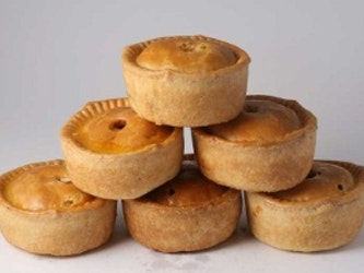 Pork Pie with Cheese and Pickle Pie
