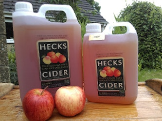 Dry Cider, 2 litre, plastic container.