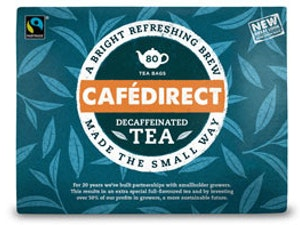Cafe Direct Tea, Fair Trade Decaffeinated, 80 tea bags