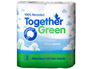 Kitchen Towels pack of 2 (recycled 3-ply paper)