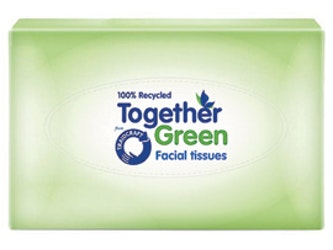 Together Green Traidcraft Facial Tissue 2 Ply from Recycled Paper