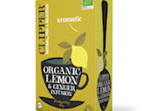 Clipper Organic Lemon & Ginger Tea Bags, box of 20 – Fairtrade