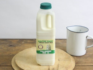 Green Top 1lt Organic Somerset Semi-skimmed Milk