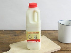 Red Top 1lt Organic Somerset Skimmed Milk
