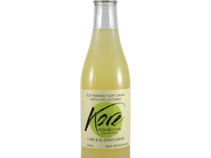 Kombucha, Lime and Elderflower, 330ml