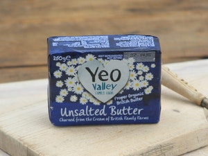 Organic Unsalted Butter 250g.  Yeovalley