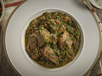 Lamb and Spinach, 375g, frozen