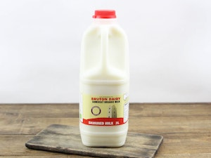 Red Top 2lt Organic Somerset Skimmed Milk