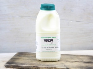 Green Top 568ml (1 pint) Somerset Semi-skimmed Milk