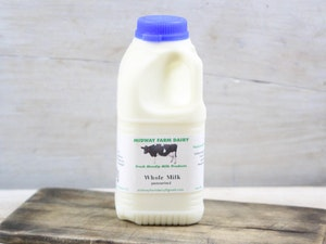 Blue Top 568ml (1 pint) Somerset Whole Milk