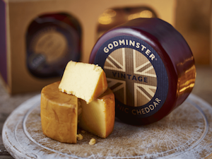 Godminster Organic Cheddar, Waxed Truckle, 400g