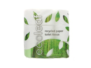 Toilet Rolls, Recycled Paper 9 roll pack, each