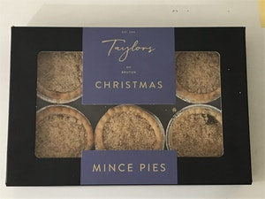 Mince Pies, Cranberry and Orange, Box of 6