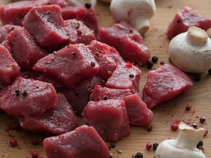 Diced Braising Steak, Red Devon Beef, 500g