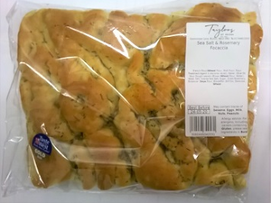 Foccacia, Sea Salt & Rosemary 400g.