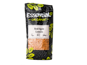 Lentils, Split Red, Organic, Dried, 500g