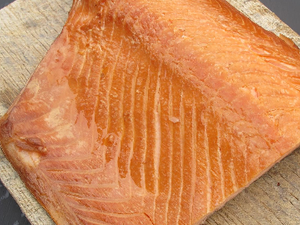 Salmon, Hot Smoked Fillet, Un-sliced, 300g