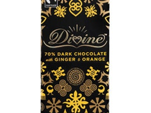 Divine Limited Edition Dark Chocolate with Orange & Ginger, 90gms