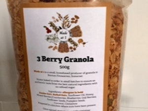 Three Berry Granola, 500 gms